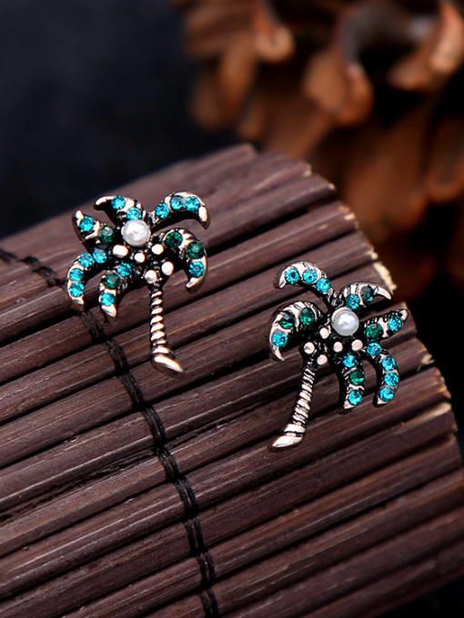 KM Alloy Women Tree-shape stud Earring 2