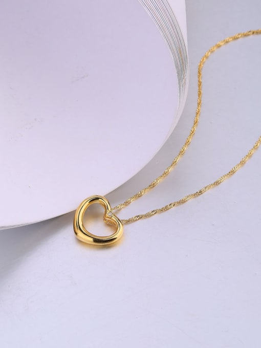 One Silver Gold Plated Heart Zircon Pendant 3