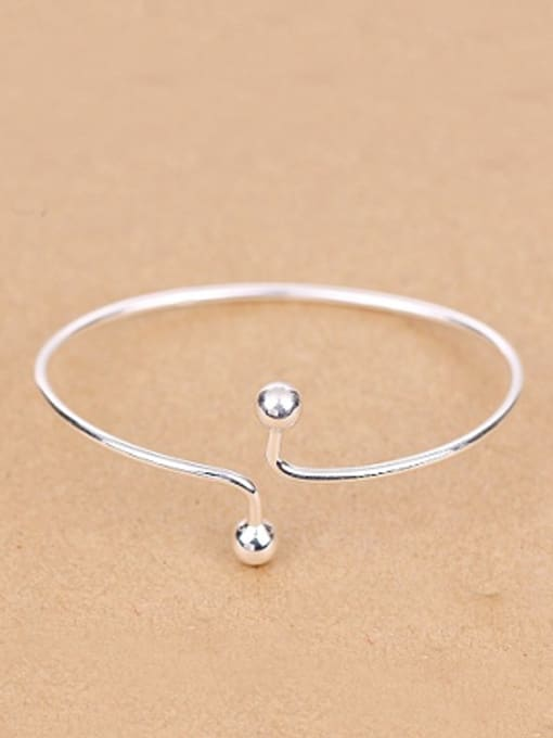 Peng Yuan Simple Little Beads Opening Ring 0