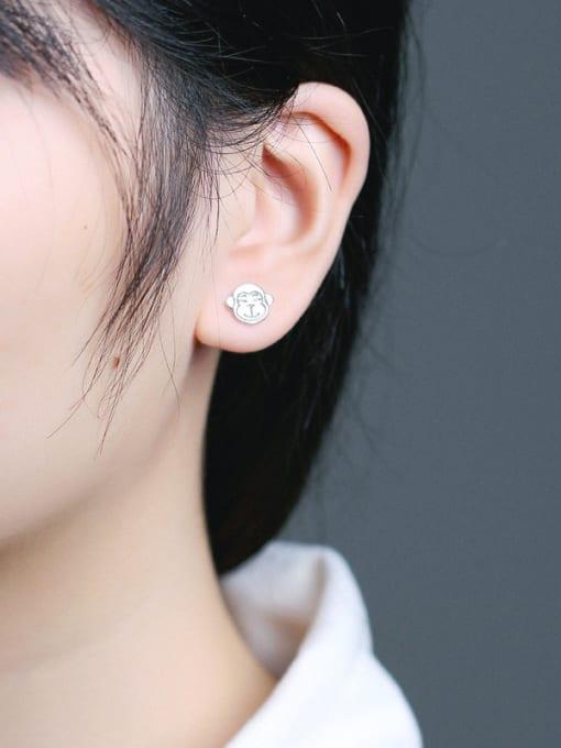 Peng Yuan Lovely Monkey Silver stud Earring 1