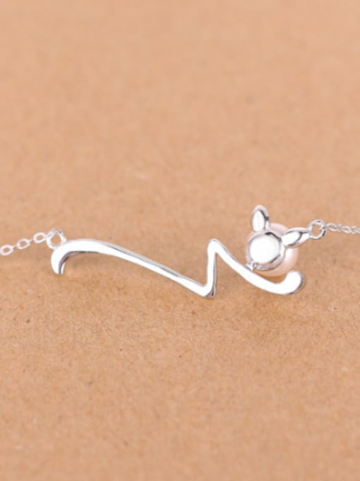 Peng Yuan Simple Freshwater Pearl Silver Necklace 2