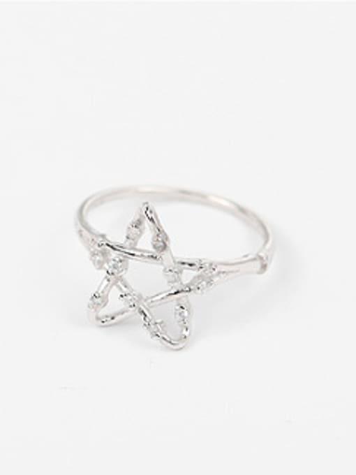 Peng Yuan Fashion Hollow Stars Zircon Ring