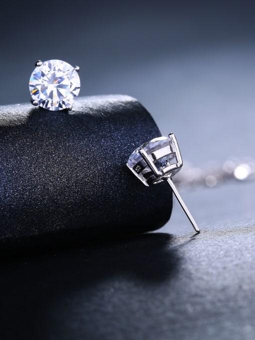 One Silver Women 925 Silver Elegant stud Earring 1