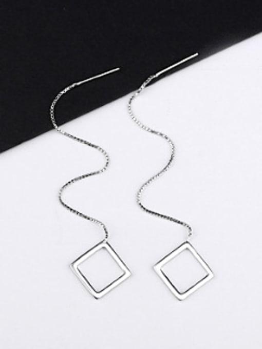 Peng Yuan Simple Hollow Square Line Earrings 0