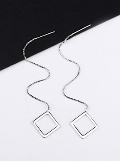 Peng Yuan Simple Hollow Square Line Earrings