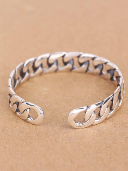 Peng Yuan Personalized Chain Opening Silver bangle 2