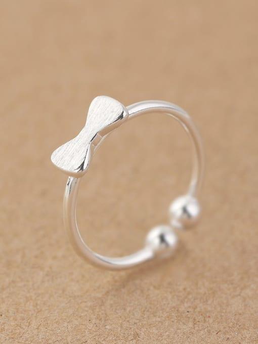 Peng Yuan Tiny Bowknot Beads Opening Ring 1