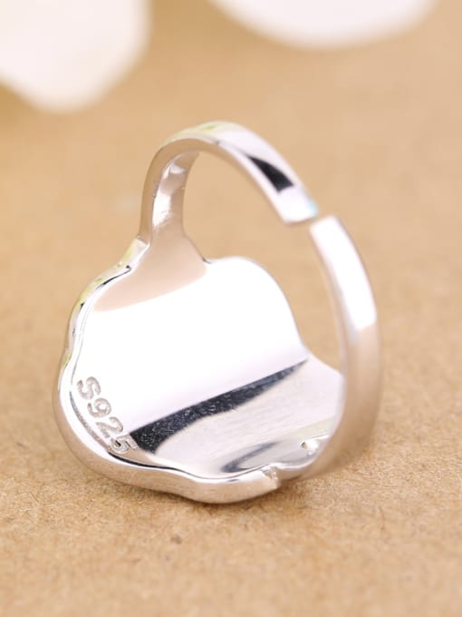 Peng Yuan Personalized Egg Silver Opening Ring 3