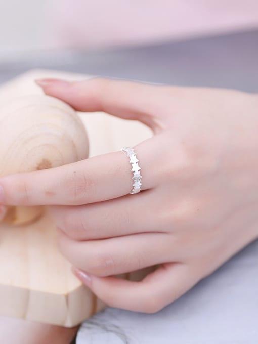 Peng Yuan Simple Geometrical Silver Opening Midi Ring 2