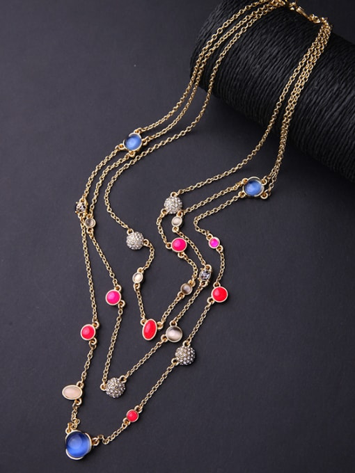 KM Simple Style Fresh Multi-layer Necklace 2
