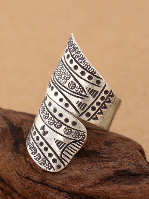 Peng Yuan Personalized Retro Silver Handmade Ring 2