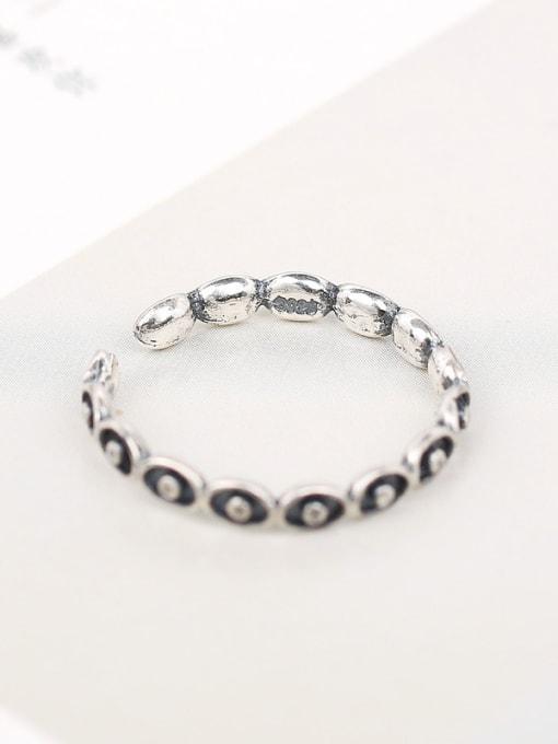 Peng Yuan Personalized Black Silver Opening Ring 2