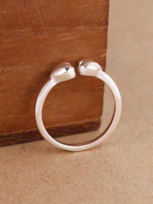 Peng Yuan Simple Heart-shaped Opening Midi Ring 1