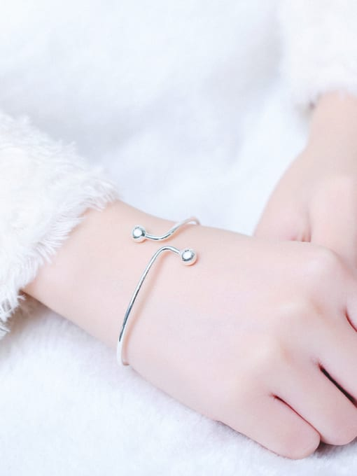 Peng Yuan Simple Little Beads Opening Ring 1