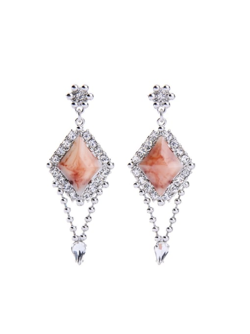 KM Geometric Stones Wedding Accessories drop earring 0