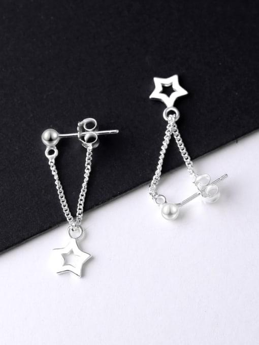 1 Simple Five-pointed Star Stud Earrings