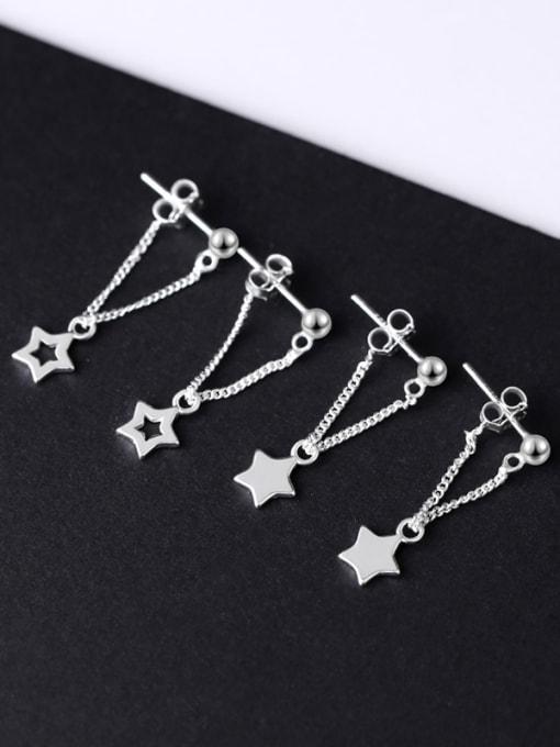 Peng Yuan Simple Five-pointed Star Stud Earrings 4