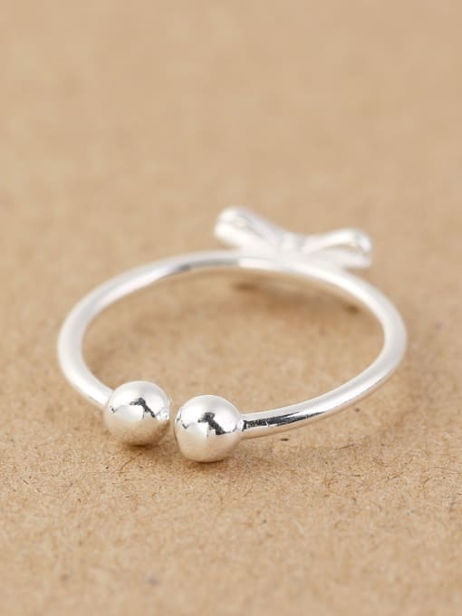 Peng Yuan Tiny Bowknot Beads Opening Ring 3