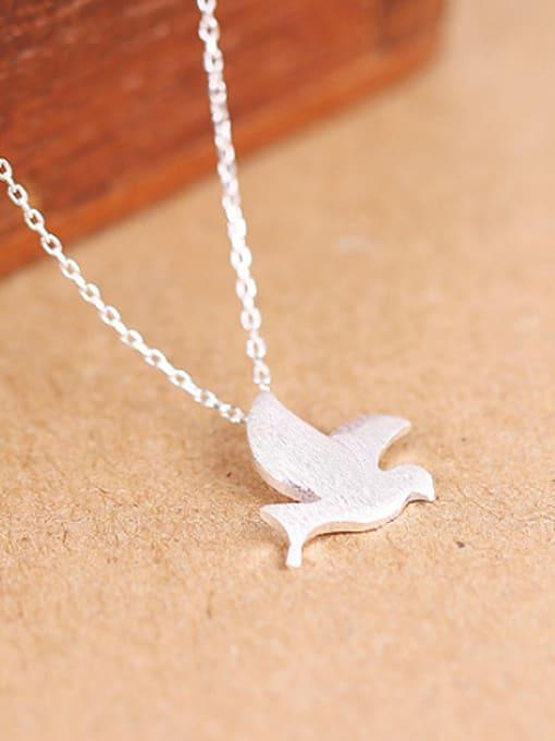 Peng Yuan Simple Peace Dove Silver Necklace 2