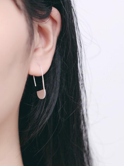 Peng Yuan Personalized Clip-shaped Silver Stud Earrings 1