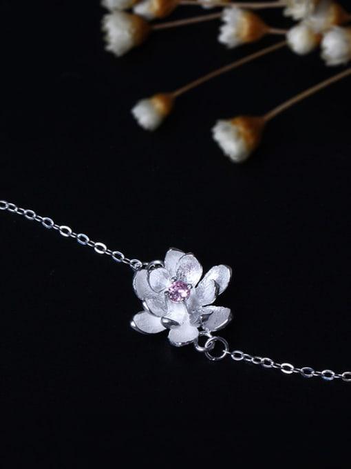 SILVER MI Natural Small Fresh Flowers Bracelet 2