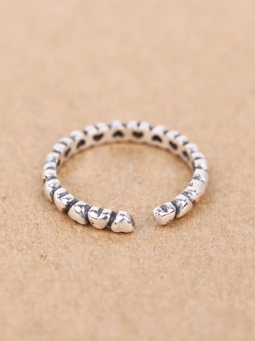 Peng Yuan Retro Tiny Heart shapes Opening Midi Ring 4