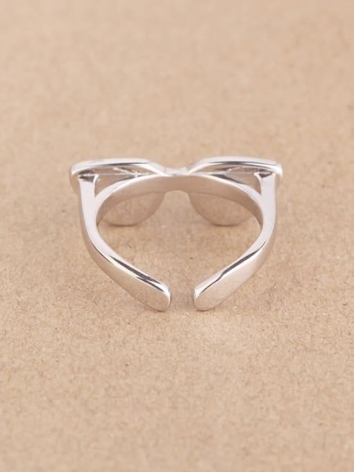 Peng Yuan Creative Glasses Silver Opening Ring 2
