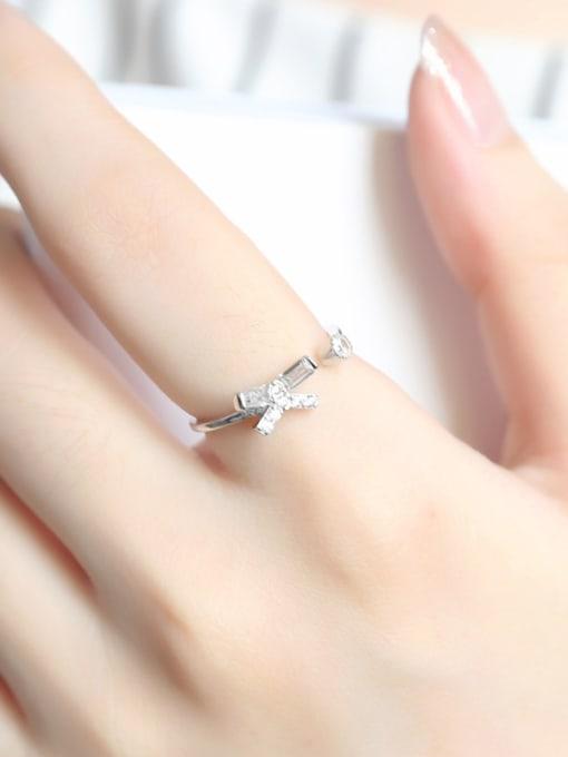 Peng Yuan Simple Little Bowknot Opening Midi Ring 1