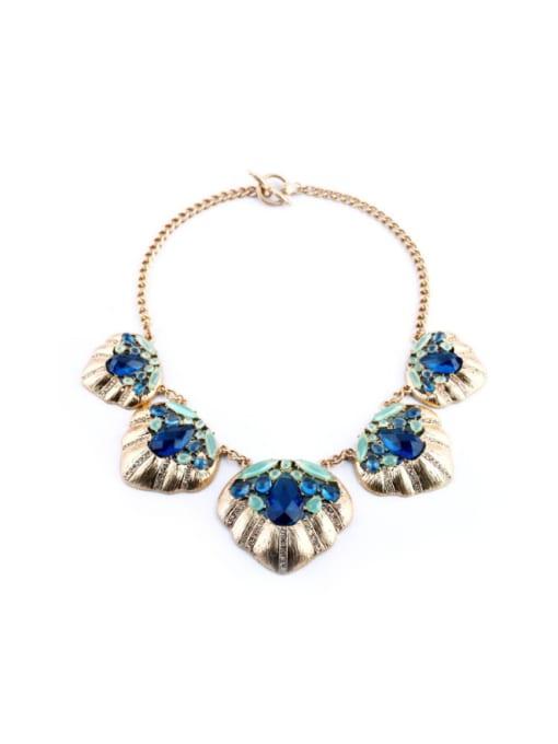 KM Exaggerate Geometric Stones Women Necklace