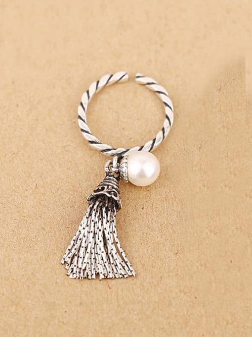 Peng Yuan Freshwater Pearl Garnet Tassels Opening Ring 0