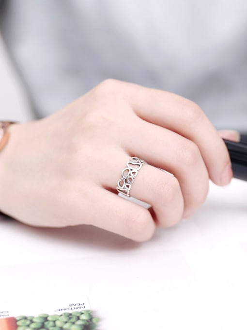 Peng Yuan Hollow Irregular shapes Opening Midi Ring 1