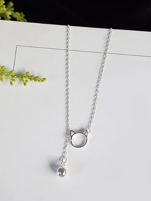 Peng Yuan Fashion Little Kitten Silver Necklace