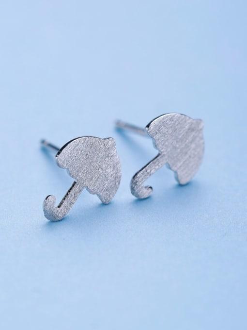 One Silver 925 Silver Mushroom Shaped stud Earring 3