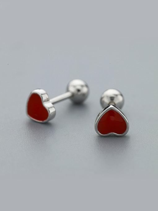 One Silver 2018 Women Delicate Heart Shaped Earrings 0