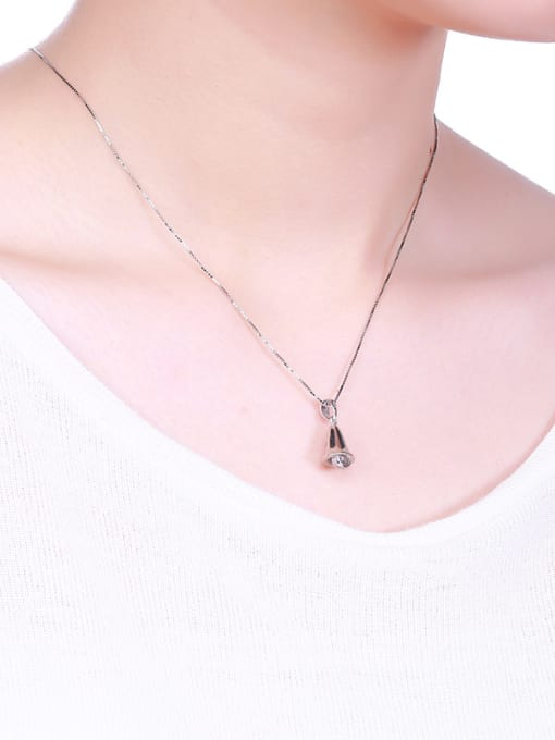 One Silver 925 Silver Bell Shaped Pendant 3