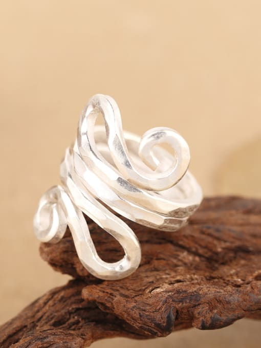 Peng Yuan Personalized Two-layer Handmade Silver Ring 3
