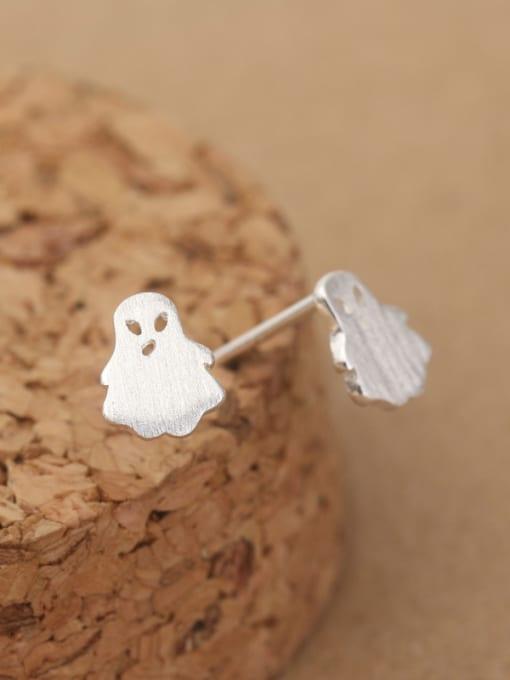 Peng Yuan Tiny Ghost Silver stud Earring 1