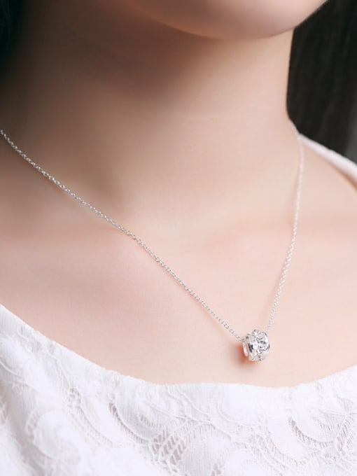 Peng Yuan Fashion Silver Flower Ring Necklace 1