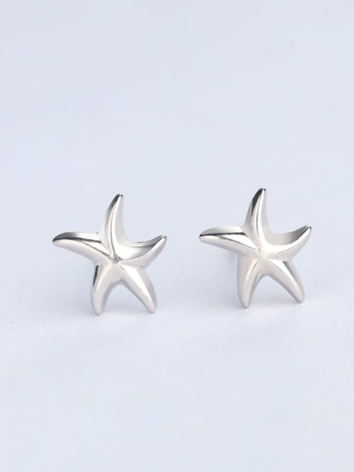 One Silver Fashionable Star Shaped Stud cuff earring