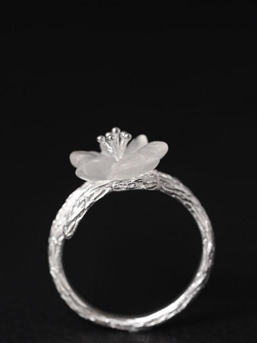 SILVER MI Flower -shape High Quality Women Ring 1