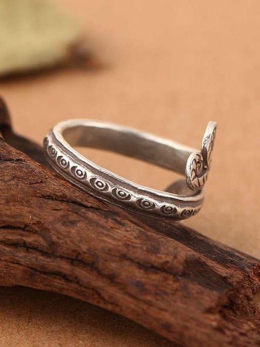 Peng Yuan Retro Snake Handmade Thai Silver Ring 2