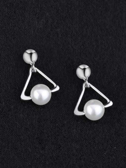 Peng Yuan Freshwater Pearl Triangle-shaped Earrings