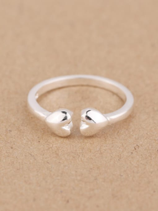 Peng Yuan Simple Heart-shaped Opening Midi Ring 0