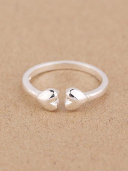Peng Yuan Simple Heart-shaped Opening Midi Ring