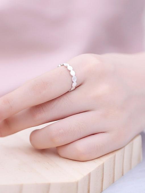 Peng Yuan Simple Geometrical Silver Opening Midi Ring 3