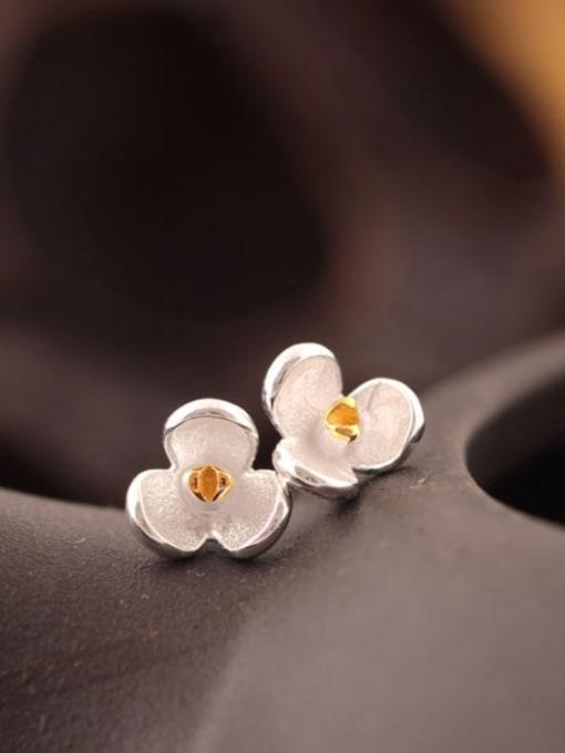 SILVER MI Orchid S925 Silver stud Earring 0