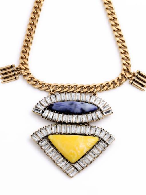 KM Geometric Pendant Alloy Women Necklace 1