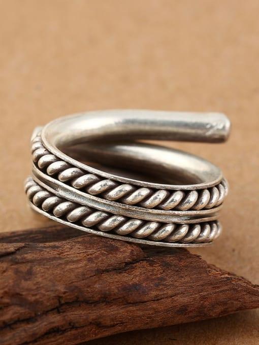 Peng Yuan Personalized Silver Handmade Opening Ring 2