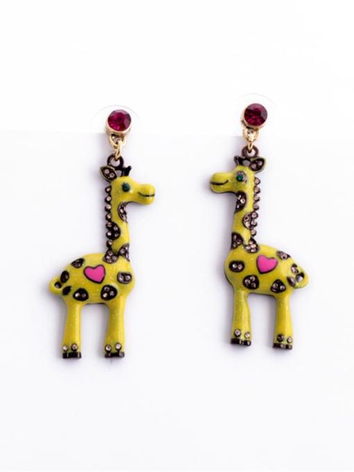 KM Fashion Lovely Giraffe Stud drop earring