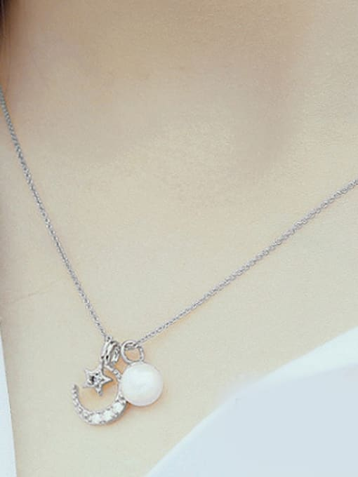 Peng Yuan Freshwater Pearl Moon Star Necklace 1